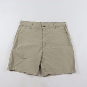 New Carhartt Mens 38 Carpenter Shorts Khaki Cotton